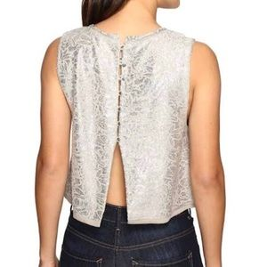 NWT Free People crop top, Size Large